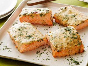 طعم دار کردن ماهی سالمون
