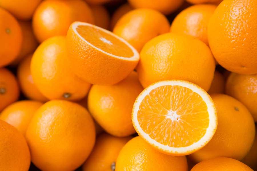 غذاهای سالم و پرتقال